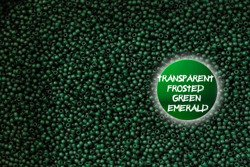 TR-11-939F Transparent Frosted Green Emerald 10g