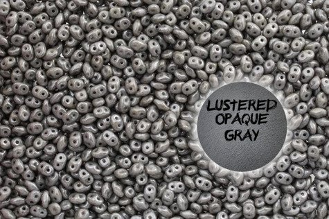 SuperDuo 14449WH Luster Opaque Gray 5g